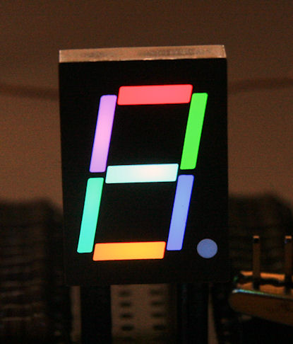 RGB 7-segment display
